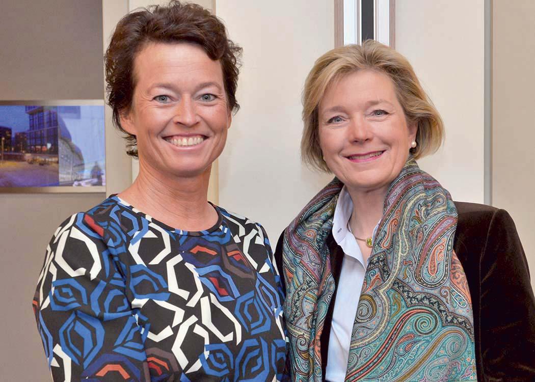 Dr. Karin Sandberg und Caroline Freifrau von Landsberg-Velen