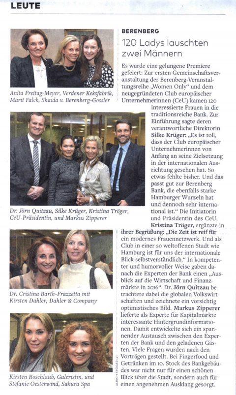 Presseartikel | WELT vom 02.03.2016