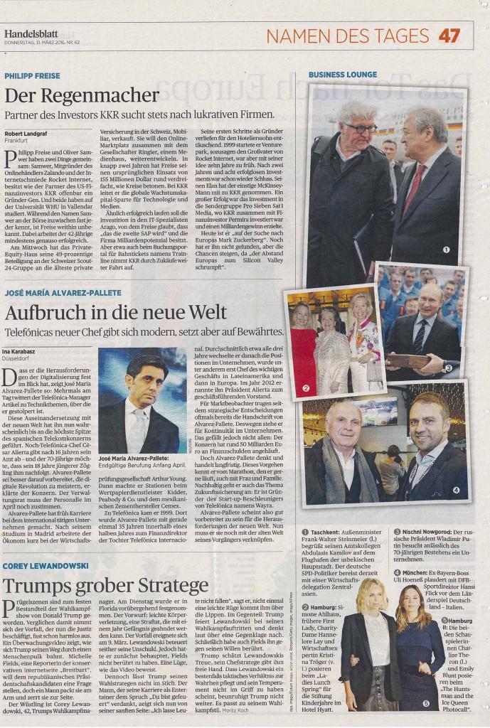 Presseartikel | Handelsblatt vom 31.03.16