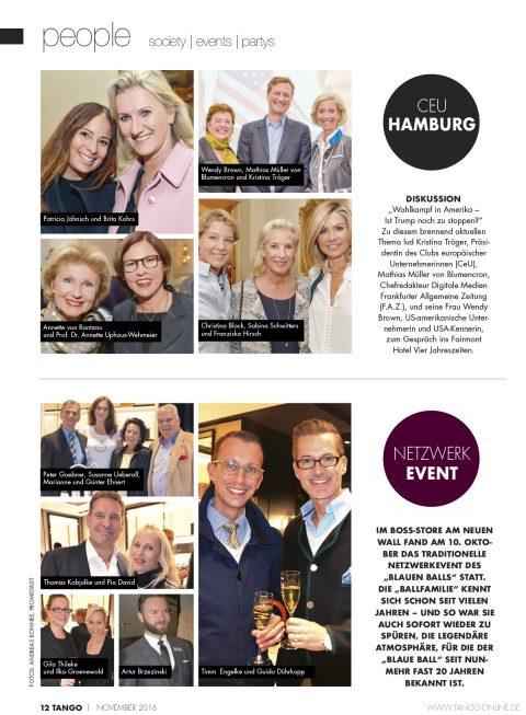 Presseartikel   TANGO Hamburg Ausgabe 11-2016