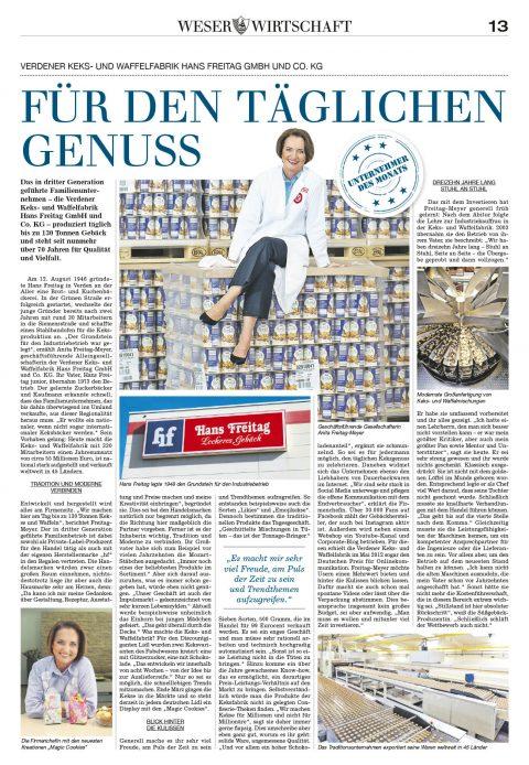 Presseartikel | Weserkurier 2.4.17