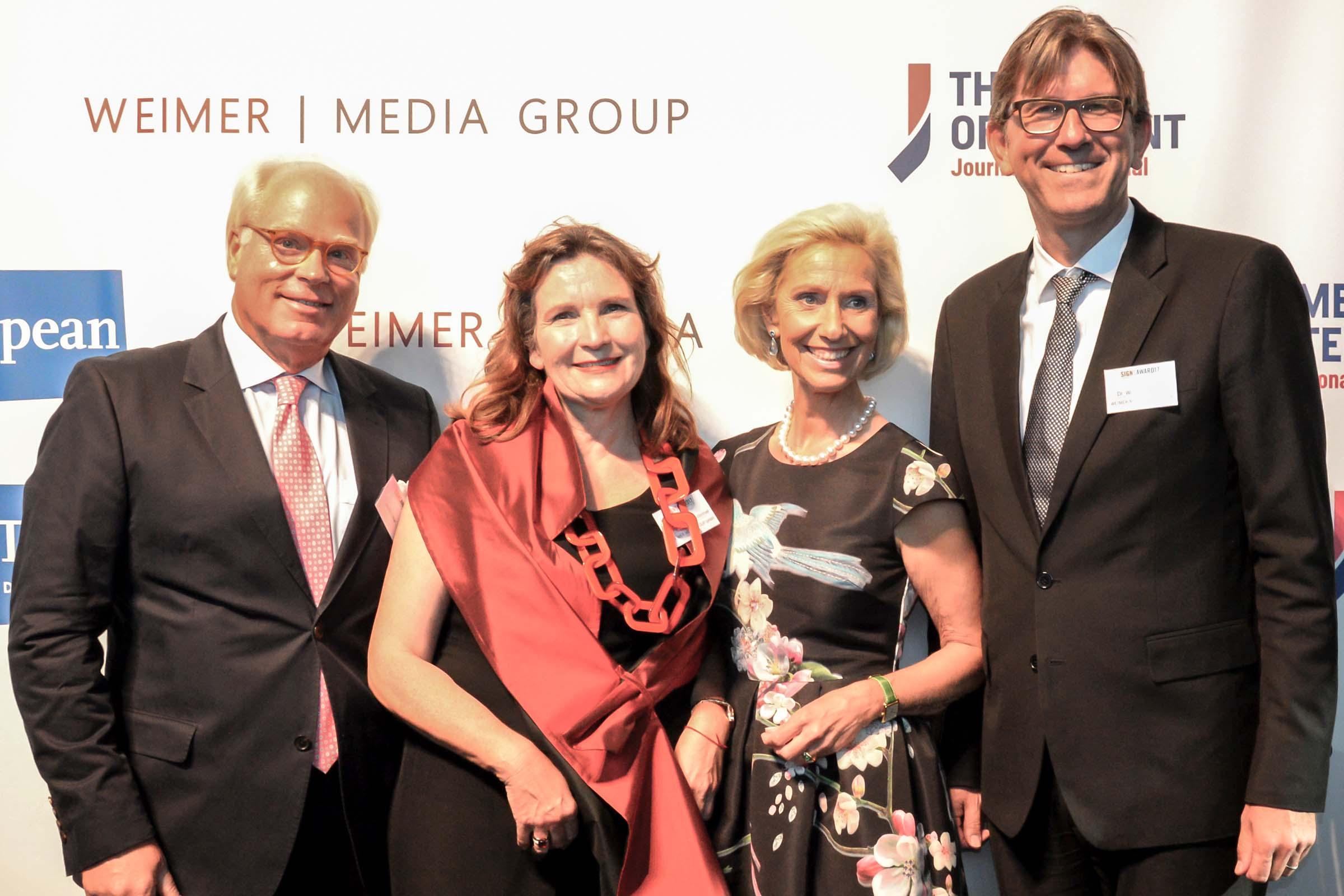 Ulrich Tröger, Christiane Goetz-Weimer, Kristina Tröger und Dr. Wolfram Weimer