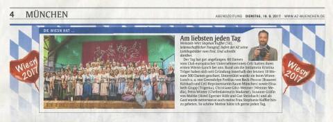 Presseartikel | AZ München 19.9.17