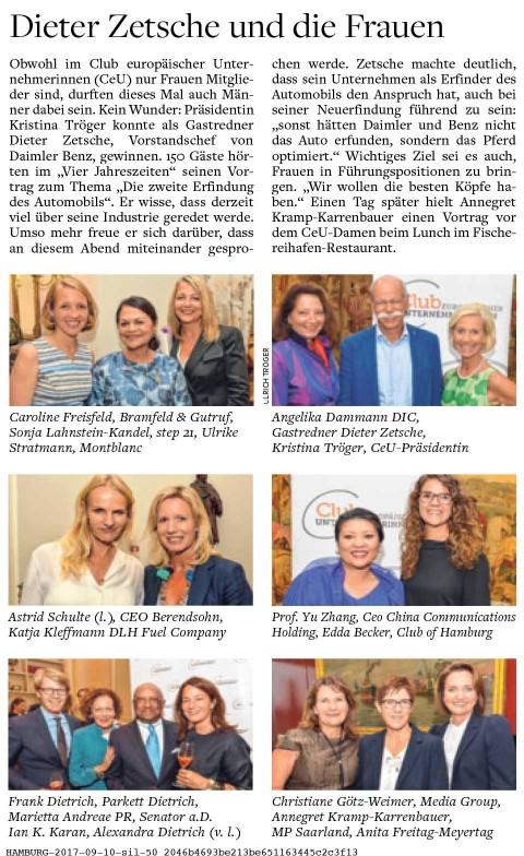 Presseartikel | WELT AM SONNTAG vom 10.09.17