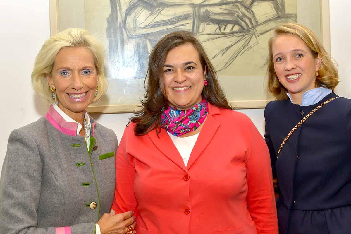 Kristina Tröger (Präsidentin CeU), Franziska Hoppermann (Vorsitzende Frauenunion) und Caroline Freisfeld