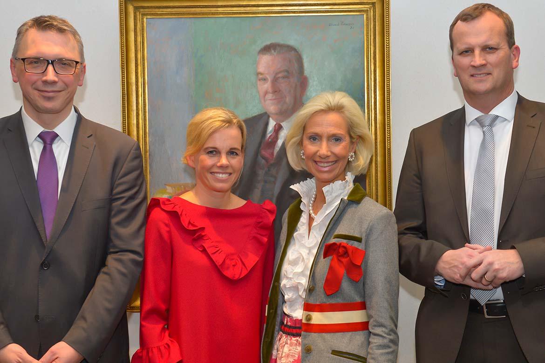 Ansgar Nolte (Berenberg), Marit Falck (Berenberg), Kristina Tröger (Präsidentin CeU) und Jörn Quitzau (Berenberg)