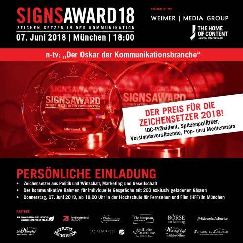 """Kooperationsveranstaltung: """"SignsAward – das Treffen der Zeichensetzer des Jahres"""""""