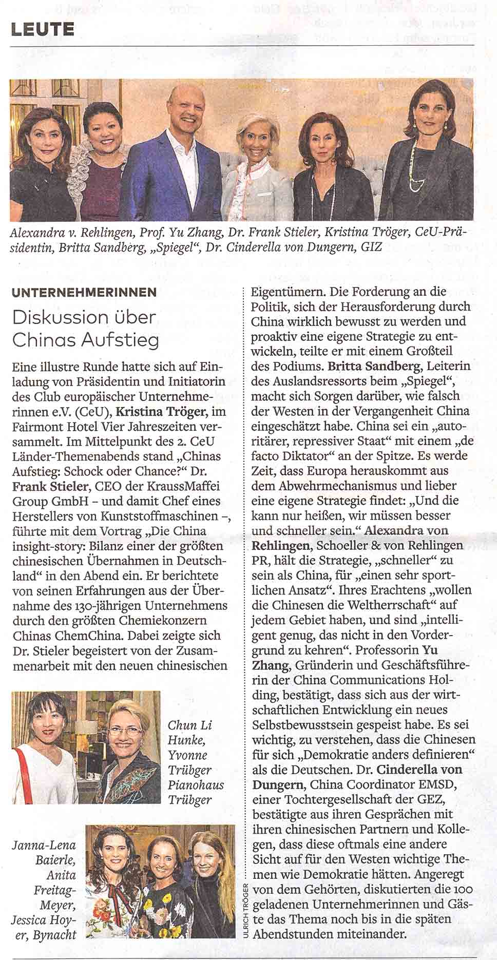 WELT CeU China Talk am 27.4.18