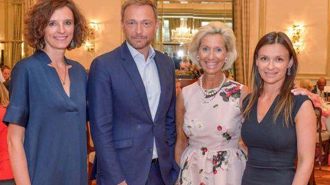 """Christian Lindner, Bundesvorsitzender der FDP, beim CeU-""""Lunch Talk"""" zum Thema """"Eine neue Generation Politik in Europa?"""""""
