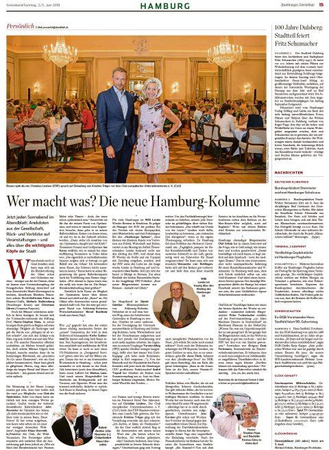 Presseartikel | Abendblatt vom 02.06.2018