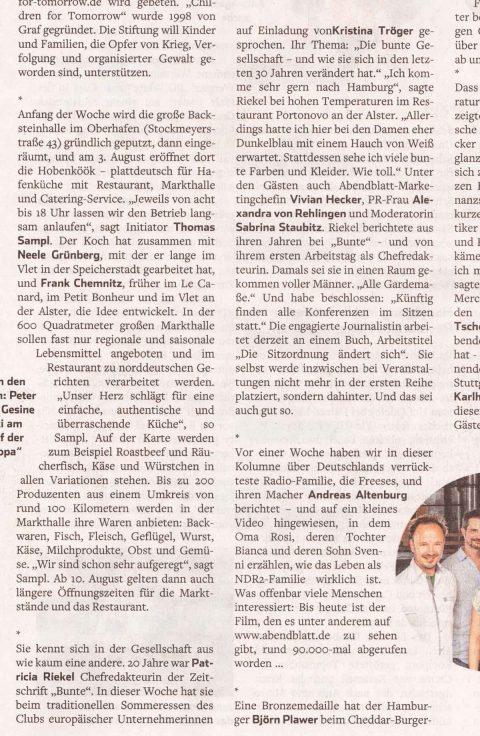 Presseartikel | Abendblatt vom 28.07.2018