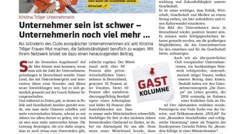Presseartikel | Klönschnack 0219