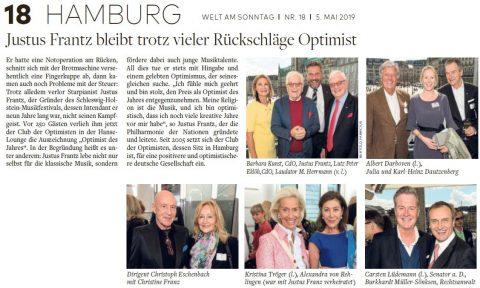 Presseartikel | WELT AM SONNTAG vom 05.05.19