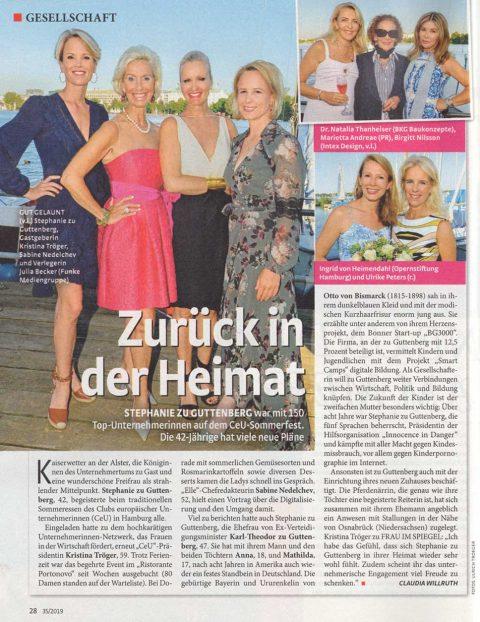 Presseartikel | Frau im Spiegel 08-2019